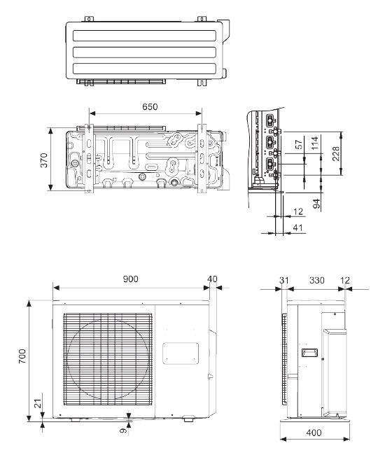 General lat3 24000 btu prezzi imbattibili - Unita esterna condizionatore dimensioni ridotte ...