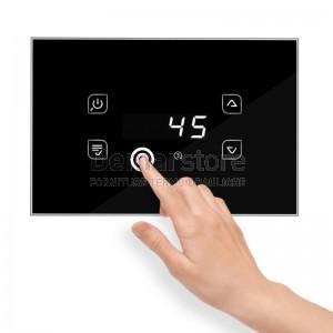 Centralina Termocamino Touch TIEMME GLH110 Glass Design Nero