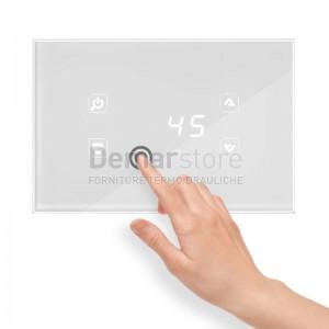 Centralina Termocamino Touch TIEMME GLH110 Glass Design Bianco