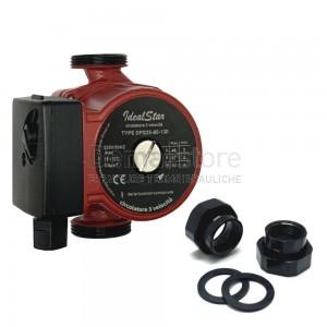 """Circolatore Ideal-Star 3 Velocità DPS 25/60 Int.130 mm Attacchi 1""""1/2"""
