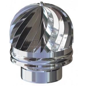 Cappello Tirafumi Acciaio Inox 304 Mono Parete Diam.  80