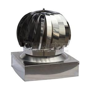 Cappello Tirafumi Acciaio Inox 304 Mono Parete Base Quadra 370x370