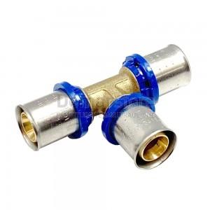Tee a Pressare Intermedio APE per Tubo Multistrato D.26