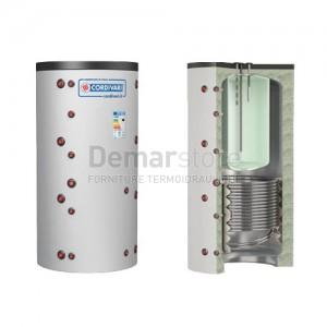 Puffer COMBI 2 WC Cordivari Riscaldamento + Accumulo ACS e 1 Scambiatore Fisso Lt.1000