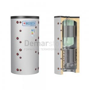 Puffer COMBI 3 WB Cordivari Riscaldamento + Accumulo ACS e 2 Scambiatori Fissi Lt. 600