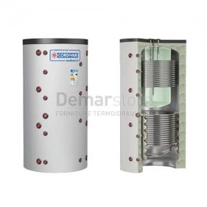 Puffer COMBI 3 WC Cordivari Riscaldamento + Accumulo ACS e 2 Scambiatori Fissi Lt.1000