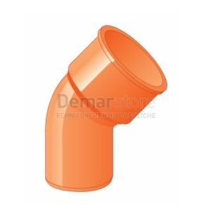 Curva Arancio PVC 45° MF D. 63