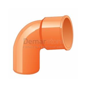 Curva Arancio PVC 87° MF D. 63