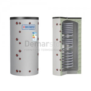 Puffer ECO-COMBI 1 VC Cordivari Riscaldamento + Scambiatore ACS Lt.1000
