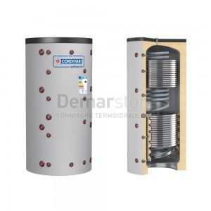 Puffer ECO-COMBI 3 VB Cordivari Riscaldamento + Scambiatore ACS e 2 Scambiatori Fissi Lt. 600