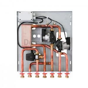 Modulo per Separazione Impianti 35 kW con 2 Circolatori e Accumulo ACS
