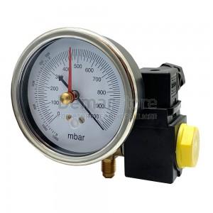Kit Elettrovalvola e Vacuometro per Pompe del Vuoto 1/4 M SAE x 1/4 M SAE