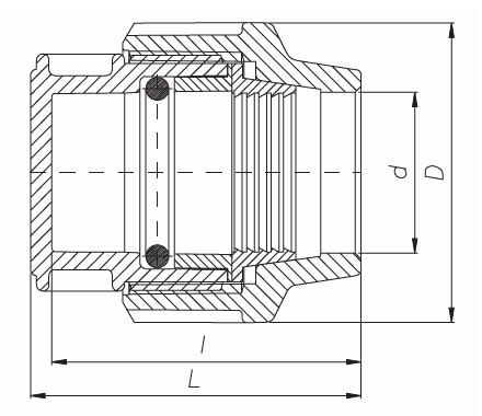 materiale selezionato più recente servizio eccellente Tappo fine linea in PP unidelta PN16 per tubo in polietilene ...